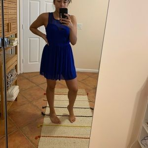 LF Sweetheart Blue Mesh Dress